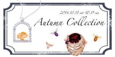 Autumn Collection 2014 -大人の遊び心をくすぐる季節-